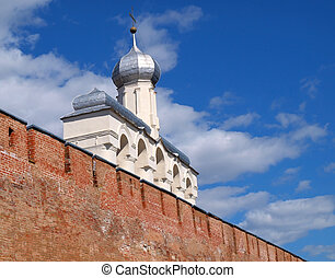 Belfry of the Novgorod Kremlin in Russia