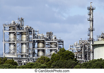 Marsden Point Oil Refinery - WHANGAREI,NZ - JULY 28:Marsden...
