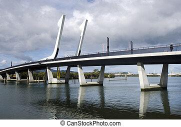 Whangarei, porto, ponte, -, nuovo, Zelanda