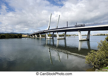 Whangarei harbour bridge - New Zealand - WHANGAREI,NZ - JULY...