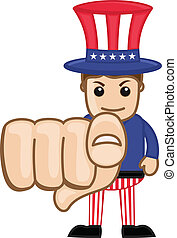 We Want You - Uncle Sam - Drawing Art of Cartoon Young Uncle...