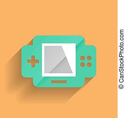Vector games console flat modern design