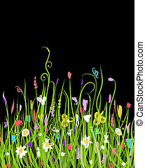 Night meadow for your design