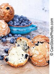 Broken Blueberry Muffins
