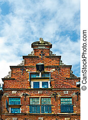 Pediment - The Flemish Gable in the Dutch City of Zutphen