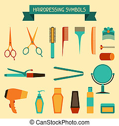 Hairdressing symbols