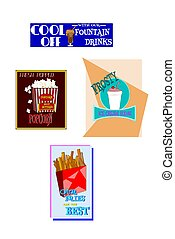 diner elements  - diner signage from fifties and sixties
