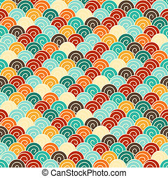 Seamless pattern in retro style.