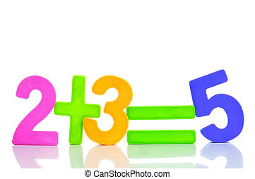 at the school - the equation two plus three are five with...