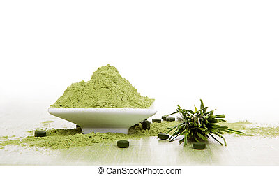 Wheatgrass. - Ground wheatgrass powder, fresh wheatgrass...