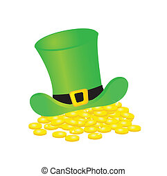 background with leprechaun or gnome on patrick day