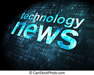 News concept: Technology News on digital background - News...