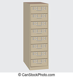 File Cabinet - The classic vertical office desk for storing...