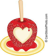 Sweet Candy Apple Love - Scalable vectorial image...