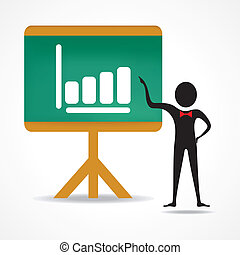man with business chart