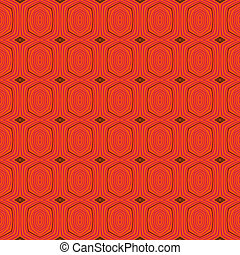 Retro pattern with oval shapes in 1950s style - Vector...