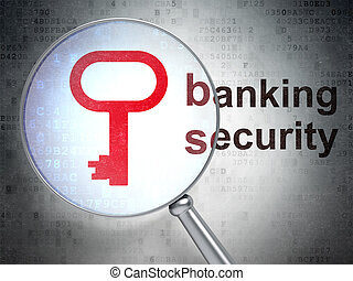 Security concept: Key and Banking Security with optical...