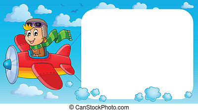 Image with airplane theme 3 - eps10 vector illustration