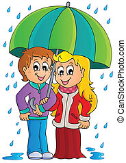 Rainy weather theme image 1 - eps10 vector illustration