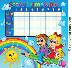 School timetable thematic image 2 - eps10 vector...