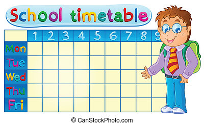 School timetable theme image 1 - eps10 vector illustration