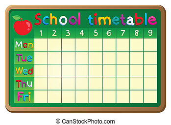 School timetable theme image 2 - eps10 vector illustration.