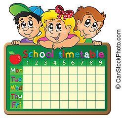 School timetable theme image 4 - eps10 vector illustration.