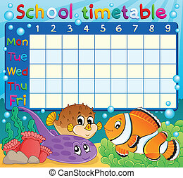School timetable theme image 6 - eps10 vector illustration.