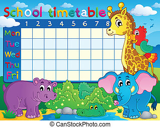 School timetable theme image 7 - eps10 vector illustration