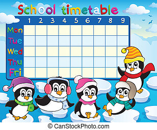 School timetable theme image 9 - eps10 vector illustration