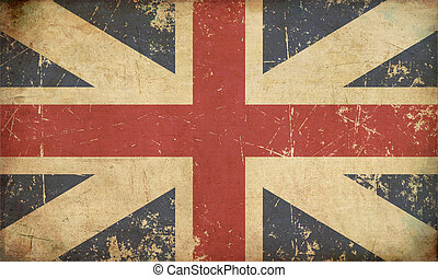 Union Jack 1606ndash;1801 The Kings Colours Flat Aged -...