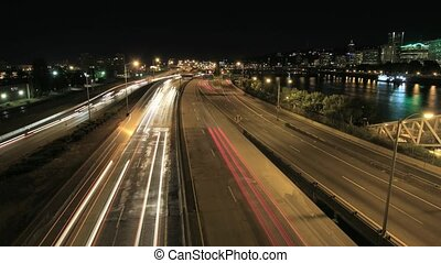 Light Trails Time Lapse Portland OR - Light Trails Time...