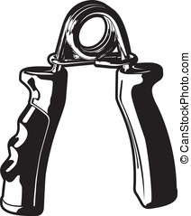 Hand Grips - Vector illustration of a set of exercising hand...