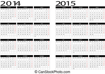 Calendar 2014-2015 - New calendar 2014-2015 in english