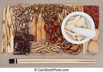 tradicional, chino, Medicina