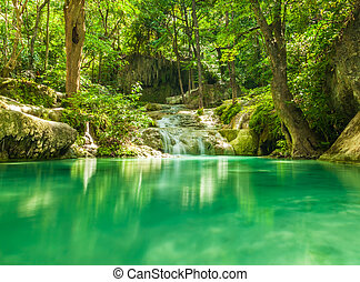 Erawan waterfall. - Erawan waterfall in Kanchanaburi,...
