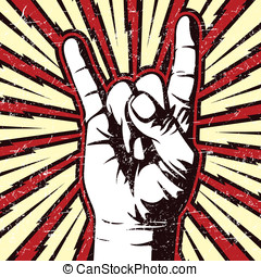 The Rocker Hand Sign - This is a vector illustration of a...