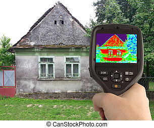 Thermal Image of the Old House - Heat Loss Detection of the...