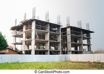 Unfinished Construction of Building.