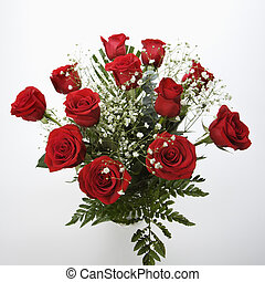 Bouquet of red roses - Bouquet of long-stemmed red roses...