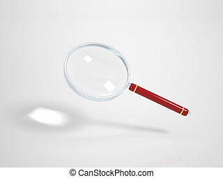 Magnifying Glass on white Background - Clipping Path...