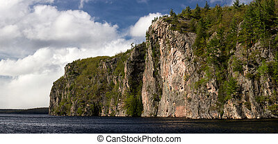 Mazinaw Rock at Bon Echo - The Mazinaw Rock at Bon Echo...