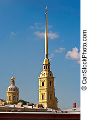 Spire of the Cathedral - The spire of the main Cathedral of...