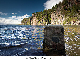 Bon Echo Provincial Park - The Plaque at Mazinaw Rock in Bon...