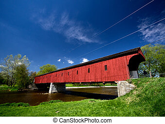 The Kissing Bridge - West Montrose Covered Bridge (Kissing...