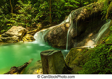 Erawan waterfall. - Erawan waterfall in Kanchanaburi,...