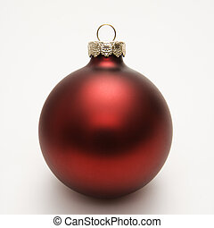 Red Christmas ornament. - Still life of red Christmas...