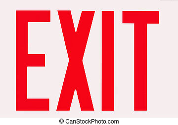 Exit Sign - Photo of an Exit sign.
