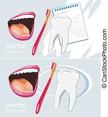 Dental background for design