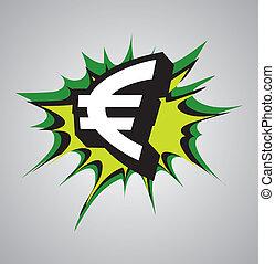 Comic book explosion bubble - euro - Comic book explosion...